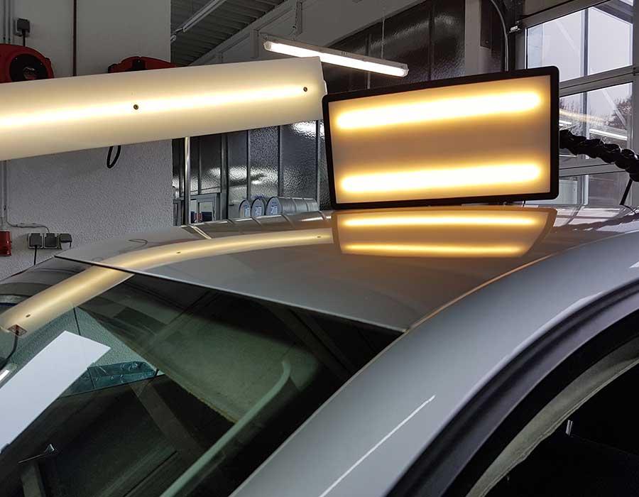 Reparierte Delle auf Fahrzeugdach- Dellenreparatur - Beulendoktor in Simmern (Hunsrück)